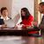 due · persone · incontro · di · lavoro · business · ufficio · donne · tavola - foto d'archivio © d13