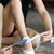 girl tying her ballet shoes stock photo © d13