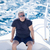 расслабляющая · человека · сидят · лодка · парусного · океана - Сток-фото © d13