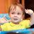 pequeno · menino · cara · sujo · amarelo - foto stock © d13