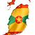 grenada flag map stock photo © daboost