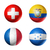 brazil world cup 2014 group e flags on soccer balls stock photo © daboost