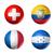 Brazilia · minge · de · fotbal · lume · echipe · steaguri · 3D - imagine de stoc © daboost