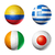 voetbal · vlaggen · voetbal · concurrentie · verschillend · wereld - stockfoto © daboost