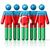 icono · bandera · Azerbaiyán · aislado · blanco · país - foto stock © daboost