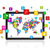 ícone · do · computador · mapa · do · mundo · abstrato · azul - foto stock © daboost
