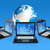 nuage · carte · favori · 3D · icône · de · l'ordinateur · isolé - photo stock © daboost