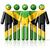 mensen · vlag · Jamaica · geïsoleerd · witte · menigte - stockfoto © daboost