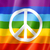 rainbow peace flag stock photo © daboost
