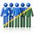 flag of solomon islands on stick figure stock photo © daboost