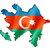 Azerbaiyán · bandera · mapa · país · forma - foto stock © daboost