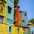színes · házak · Buenos · Aires · Argentína · fa · utca - stock fotó © daboost