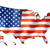 united states flag map stock photo © daboost