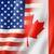 USA · Canada · vlag · gemengd · geven - stockfoto © daboost