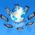 telefonu · komórkowego · świat · świecie · trójwymiarowy · odizolowany · biały - zdjęcia stock © daboost