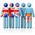 flag of fiji on stick figure stock photo © daboost