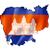 Камбоджа · карта · большой · размер · политический · флаг - Сток-фото © daboost