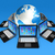 laptop · computers · rond · wereld · wereldbol · 3D - stockfoto © daboost