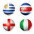 brazil world cup 2014 group d flags on soccer balls stock photo © daboost