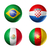 brazil world cup 2014 group a flags on soccer balls stock photo © daboost