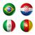 Бразилия · Мир · Кубок · 2014 · группа · флагами - Сток-фото © daboost