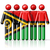 flag of vanuatu on stick figure stock photo © daboost