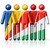 flag of seychelles on stick figure stock photo © daboost