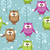 vector seamless pattern with cute cartoon owls stock photo © dahlia