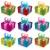vektör · ayarlamak · hediye · kutuları · yay · şerit · doğum · günü - stok fotoğraf © Dahlia