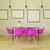3d · render · gyönyörű · étkezőasztal · rózsaszín · székek · fapadló - stock fotó © danilo_vuletic
