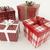 3d · render · piros · fehér · ünnep · ajándékok · szalagok - stock fotó © danilo_vuletic