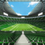 Round american football stadium with green seats and VIP boxes for hundred thousand fans stock photo © danilo_vuletic