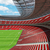 3d render of a round football   soccer stadium with red seats stock photo © danilo_vuletic