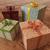 3d · render · ünnep · ajándékok · szalagok · fából · készült · ajándékok - stock fotó © danilo_vuletic