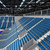 Beautiful sports arena for basketball with gray blue seats and VIP boxes stock photo © danilo_vuletic