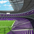 Round american football stadium with purple seats for hundred thousand fans with VIP boxes stock photo © danilo_vuletic