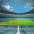 3d render of baseball stadium with sky blue seats and vip boxes stock photo © danilo_vuletic