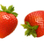 fraises · isolé · blanche · feuille · fruits · rouge - photo stock © danny_smythe