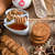 chocolade · cookies · plaat · voedsel - stockfoto © dar1930