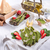 Asparagus with green sauce  stock photo © Dar1930