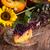 autumn pumpkin cheesecake with cranberries stock photo © dar1930