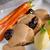 cerdo · ciruela · salsa · agua · pan · cena - foto stock © Dar1930