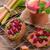rhubarbe · canneberges · fruits · vert · plaque · manger - photo stock © Dar1930