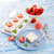 チーズケーキ · イチゴ · ソース · 食品 · 葉 · フルーツ - ストックフォト © dar1930