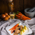 carne · di · maiale · prugna · salsa · acqua · pane · cena - foto d'archivio © Dar1930