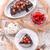 chocolate walnut cake with cherries stock photo © dar1930