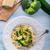 farfalle pasta with zucchini and broccoli stock photo © dar1930