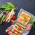 spárga · asztal · zöld · kenyér · fehér · pite - stock fotó © Dar1930