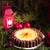 chocolate · laranja · bolo · de · queijo · casa · vermelho · fogos · de · artifício - foto stock © dar1930