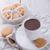 karácsony · sütik · forró · csokoládé · fából · készült · tálca · kényelmes - stock fotó © dar1930